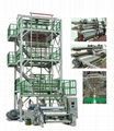 3-5 Layer Co-extrusion(upward blowing rotary traction) Film Blowing Machine Line