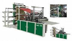 Automatic 3 Layer 6 Send Heat-sealing  Cold-cutting Bag Making Machine