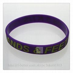 promotinal custom color filled silicone bracelet