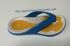 EVA two colors slipper moulds from jinjiang quansheng