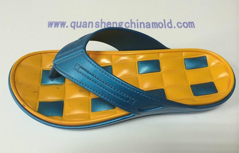 EVA two colors slipper moulds from jinjiang quansheng 4