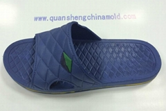 PVC air blowing injection shoe slipper  moulds from jinjiang quansheng