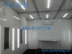 Integrated  paint spry booth