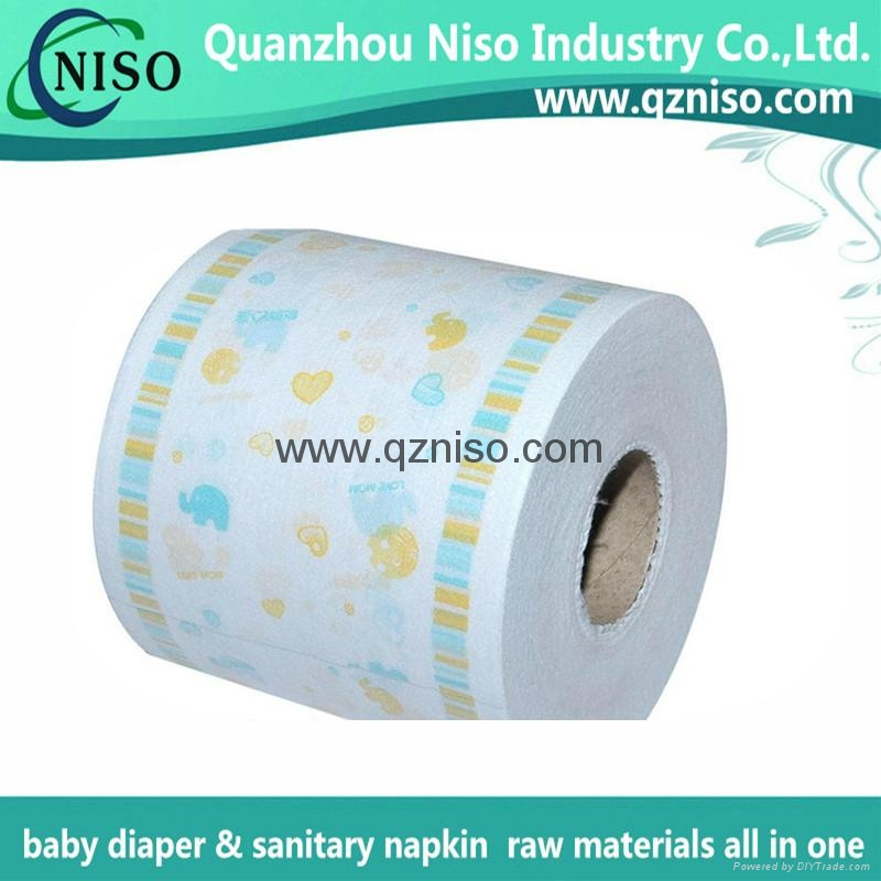 Full laminated breathable printing PE film raw material for baby diaper 1