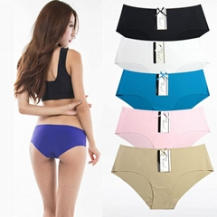 Ice Silk Seamless Underwear High Quality Panties For Women Mature Women Short Pa