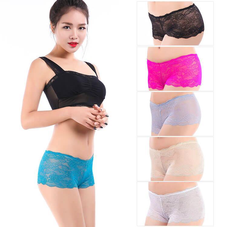 Yun Meng Ni Sexy Underwear Lace Women Boyshorts Mature Panty Lingerie 1