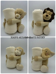 plush toys with blanket