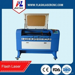 wine bottles/glass cups/wood pen laser engraving machine FL-570 with rotary