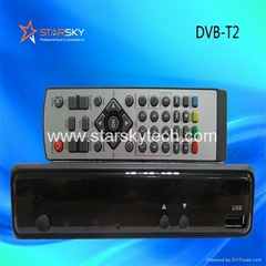 Mini Metal Decoder Dvb-T2 TV Receiver
