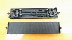 A miniature replica of a railway carriage