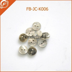 plastic resin imitation shell shirt button for garments