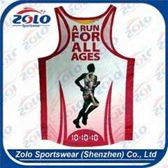 Men's Running Singlets with sublimation printing