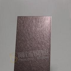 高比乱纹镀褐金不锈钢  304不锈钢亮光抗指纹