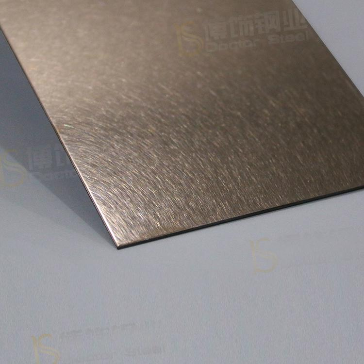 304高比亂紋鍍玫瑰金不鏽鋼  亮光抗指紋不鏽鋼板面 1