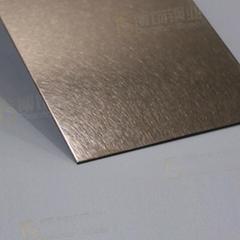 304高比乱纹镀玫瑰金不锈钢  亮光抗指纹不锈钢板面