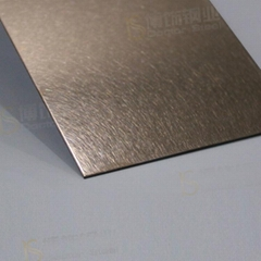 304高比亂紋鍍玫瑰金不鏽鋼  亮光抗指紋不鏽鋼板面
