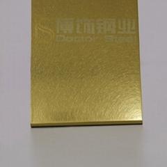304高比和紋鍍鈦金不鏽鋼 亮光抗指板面