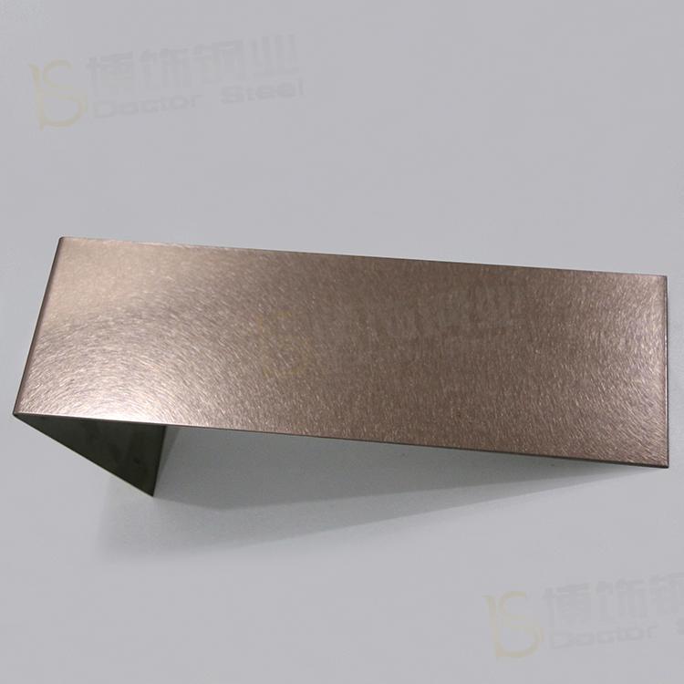 304高比和紋鍍古銅不鏽鋼 啞光抗指紋材料 1