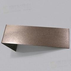 304高比和纹镀古铜不锈钢 哑光抗指纹材料