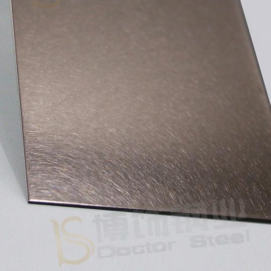 304高比和紋鍍古銅不鏽鋼 啞光抗指紋材料 3