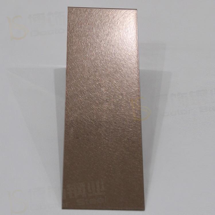 304高比和紋鍍古銅不鏽鋼 啞光抗指紋材料 4
