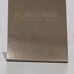 304高比和纹镀香槟金不锈钢