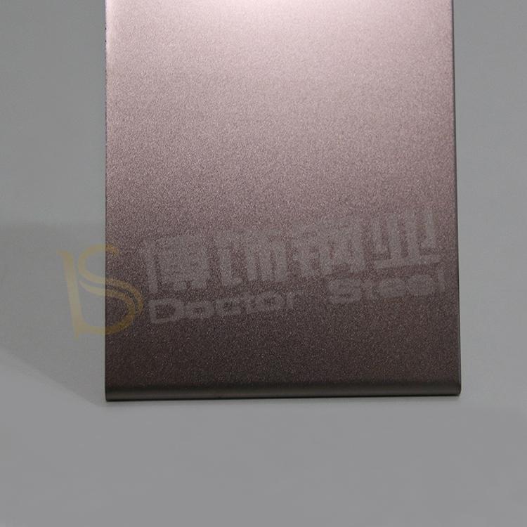304高比打砂镀褐金不锈钢+亮光防指纹 1
