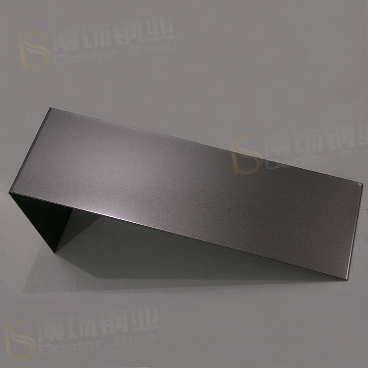 304打砂鍍黑鈦不鏽鋼 亮光防指紋加工 1