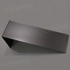 304打砂镀黑钛不锈钢 亮光防