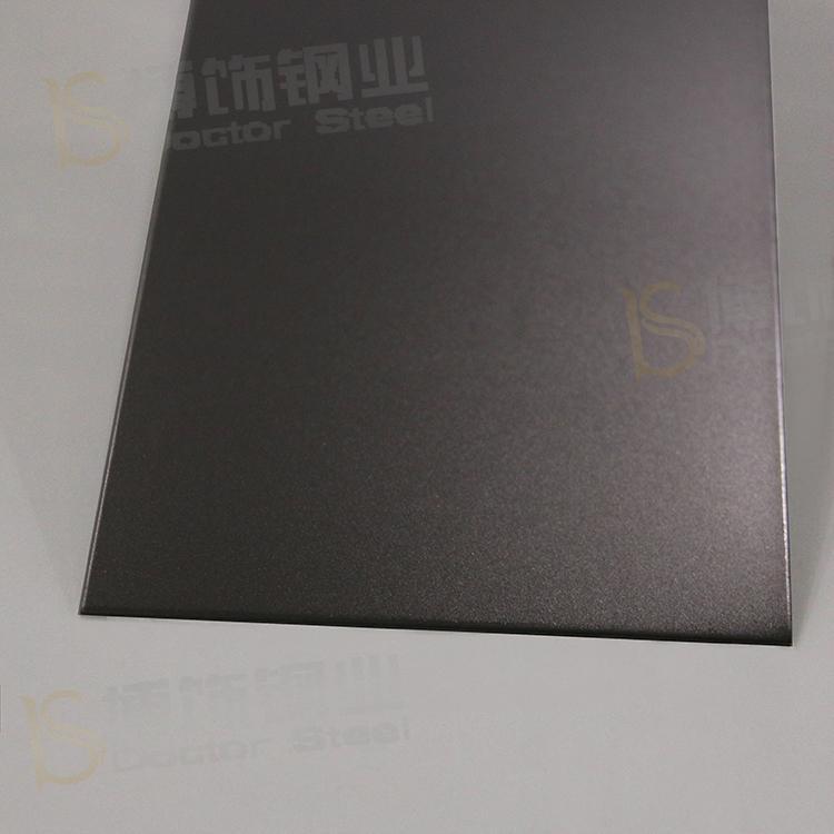 304打砂鍍黑鈦不鏽鋼 亮光防指紋加工 2
