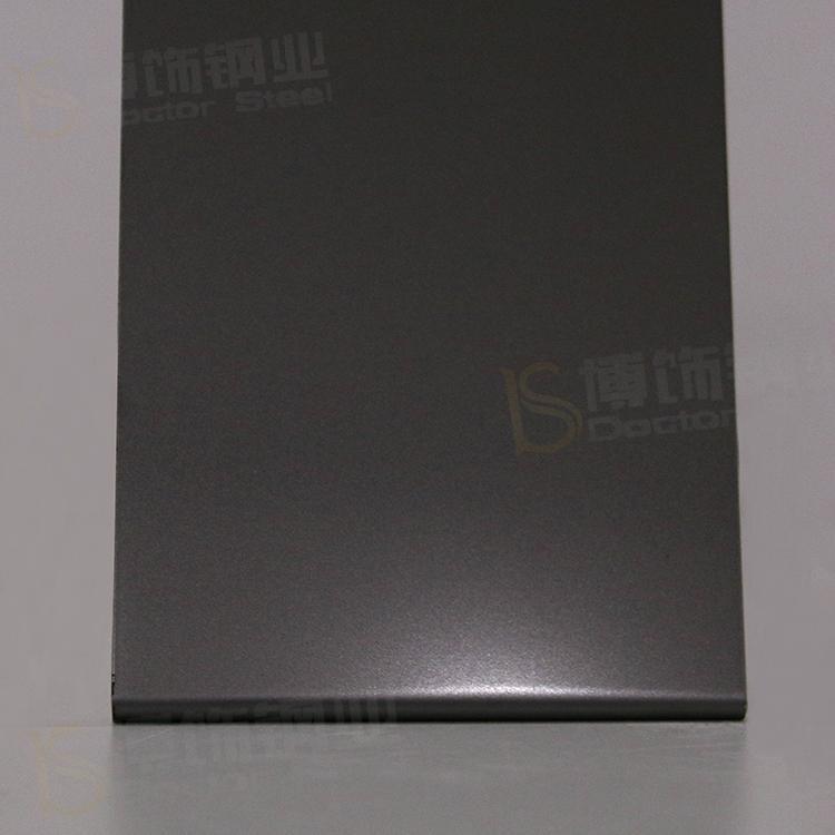 304打砂鍍黑鈦不鏽鋼 亮光防指紋加工 3