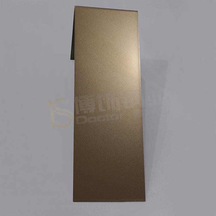 304高比打砂玫瑰金不鏽鋼板+亮光防指紋 1