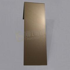 304高比打砂玫瑰金不鏽鋼板+亮光防指紋