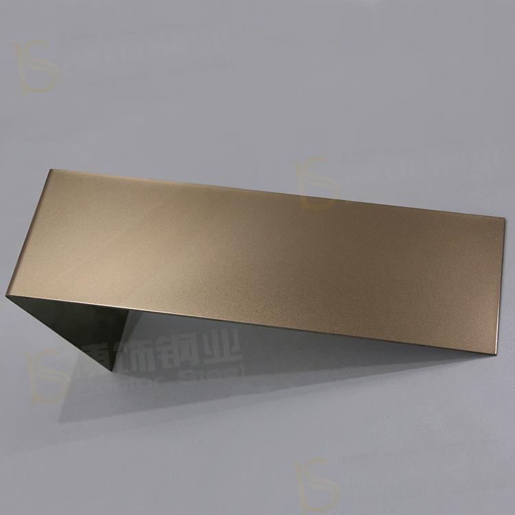 304高比打砂玫瑰金不鏽鋼板+亮光防指紋 2