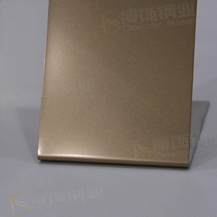 304高比打砂玫瑰金不鏽鋼板+亮光防指紋 3