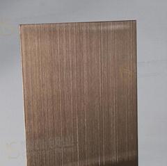 304高比发纹镀古铜不锈钢 专业不锈钢电镀加工