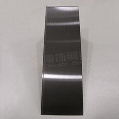 304高比发纹镀黑色 哑光不锈钢表面处理