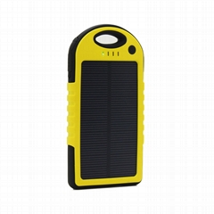 5000mAh waterproof portable solar charger for mobile with high quality