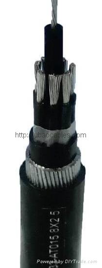 銅芯無鹵低煙阻燃耐火交聯聚乙烯絕緣聚烯烴護套電力電纜(可出口) 1