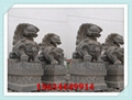 福建石狮子图片 内蒙古大门石头