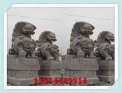 福建石狮子图片 内蒙古大门石头狮子价格