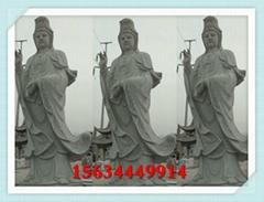 寺院漢白玉觀音像生產廠家 石頭觀音菩薩雕像價錢