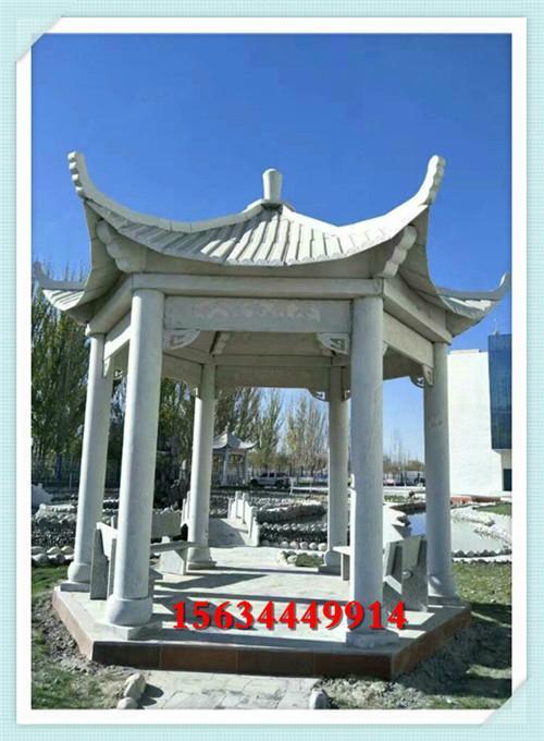 浙江公园石亭子图片 西藏广场石头亭子价钱 5
