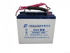 免维护太阳能阀控密封式胶体蓄电池12V38AH