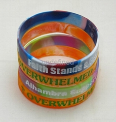 customized silicone bracelet promotional gift