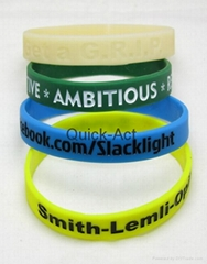 Custom silicone bracelets advertising promotional