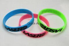 100% silicone bracelet custom design