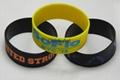100% silicone bracelet custom design 2