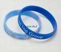 100% silicone bracelet custom design 3