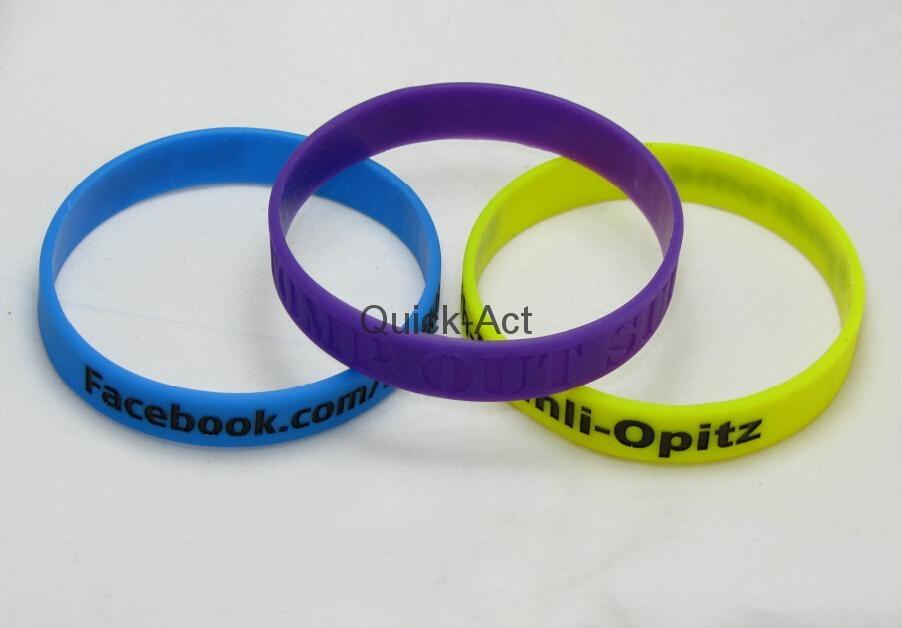 100% silicone bracelet custom design 4